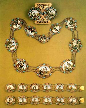 54. Отличная золотая парюра с римской...